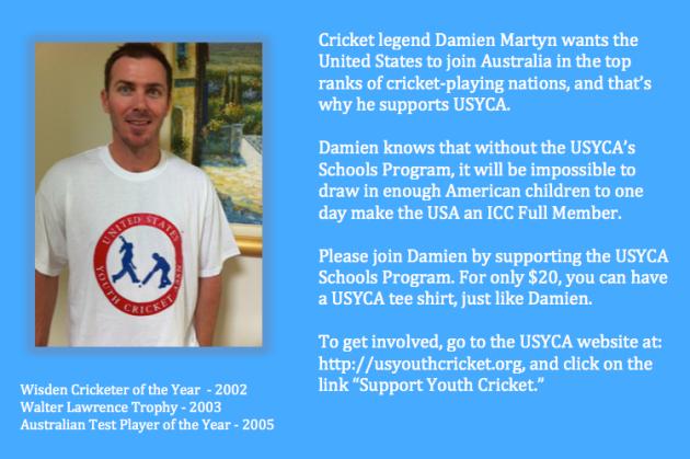 Damien Martin endorses USYCA